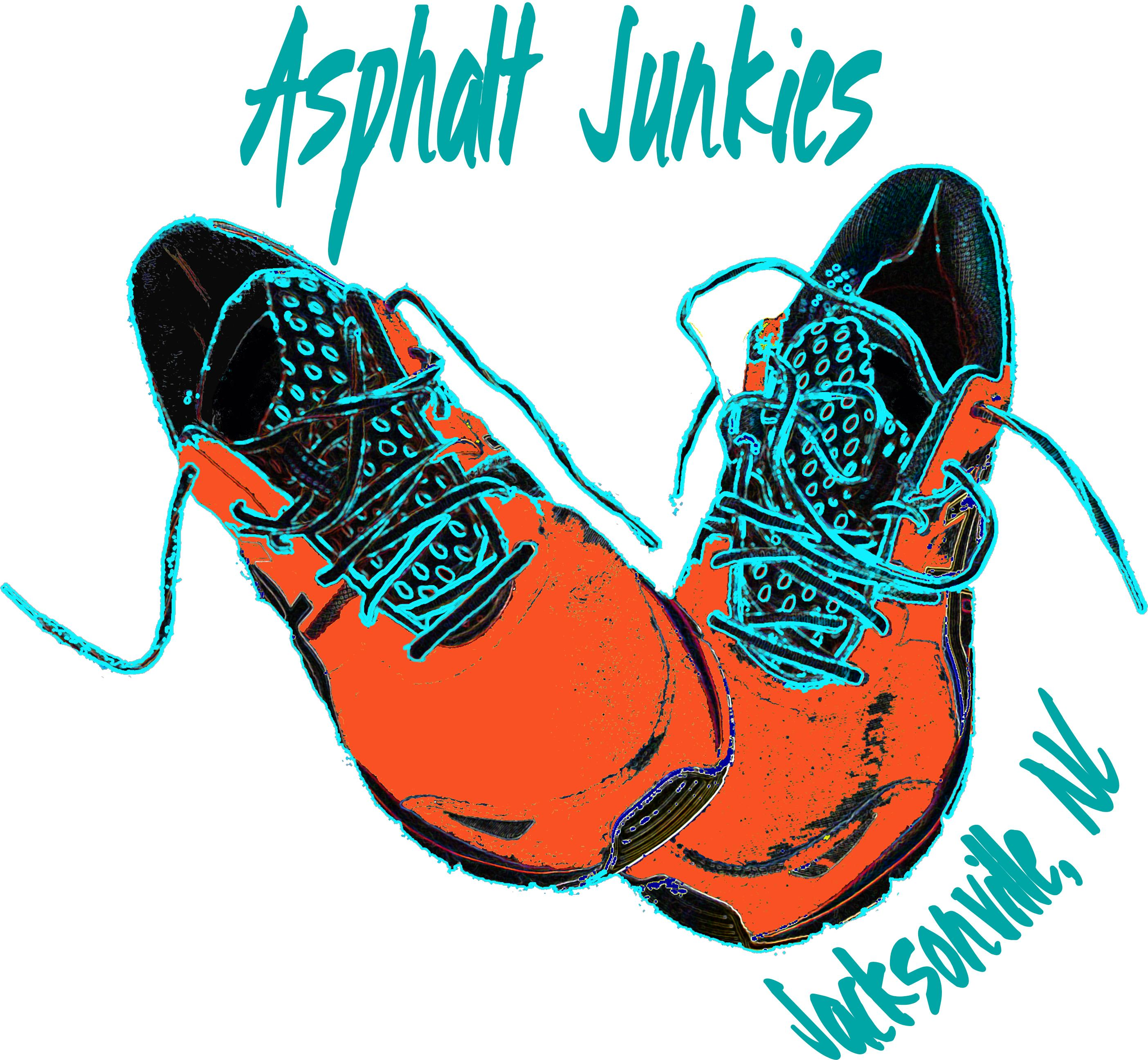 Asphalt Junkies Logo for Crystal Coast Graphics